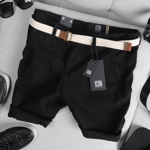 Quần short kaki ICON DENIM w belt