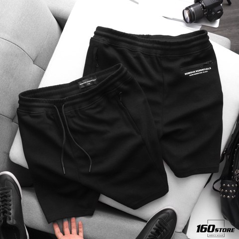 Quần short NOMOUS ESSENTIALS Pique Black