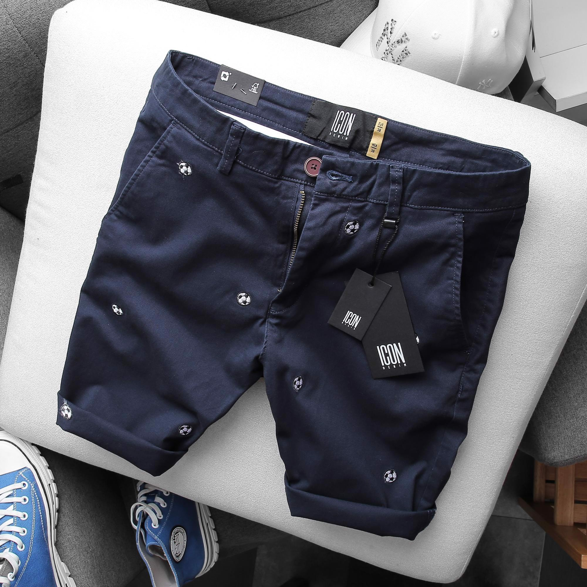 Quần short ICON DENIM Balls Embroidered