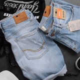Quần short denim P.B wash rách