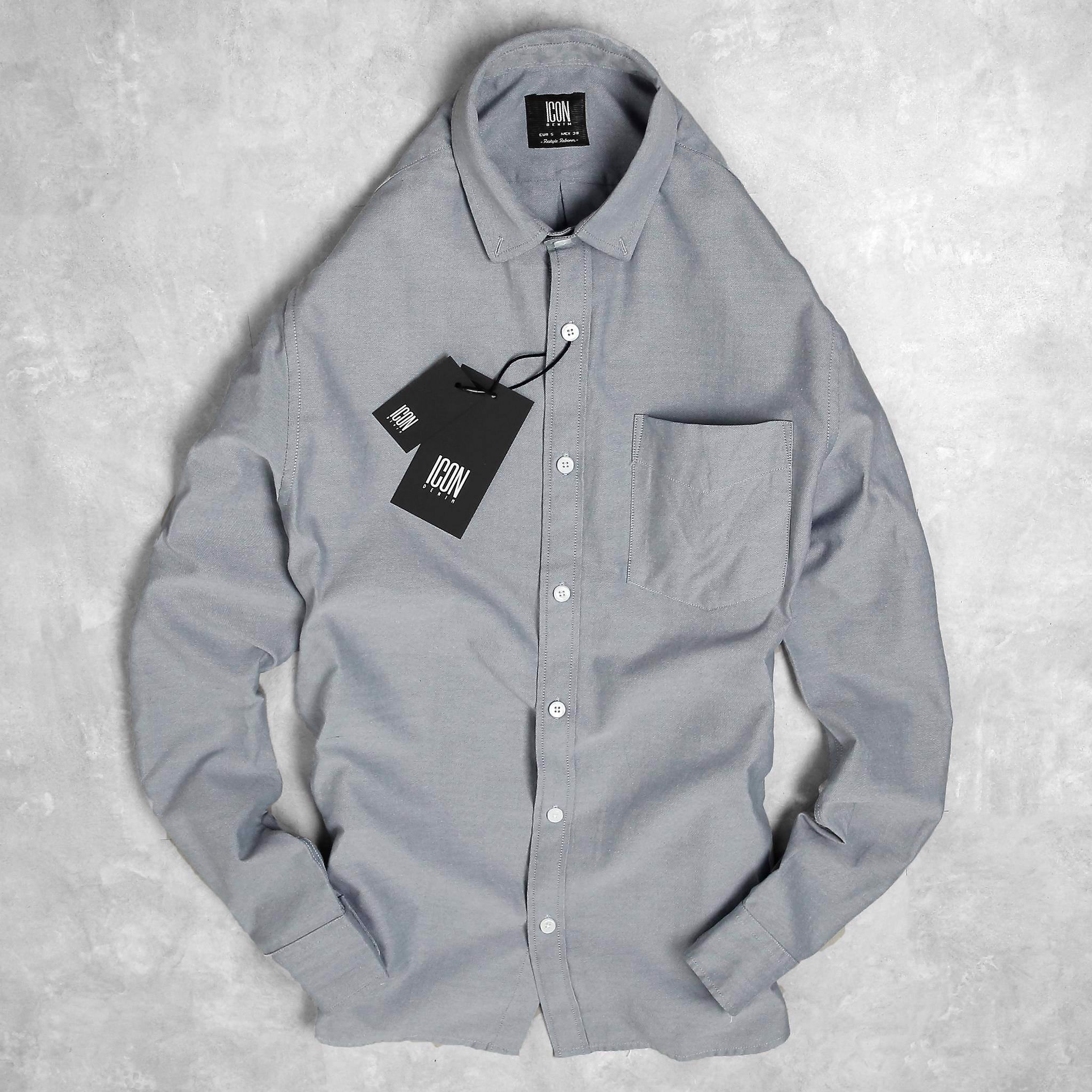 Áo sơmi ICON DENIM Oxford w Signature