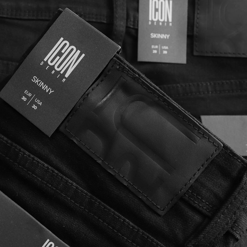 Quần short jean ICON DENIM Black