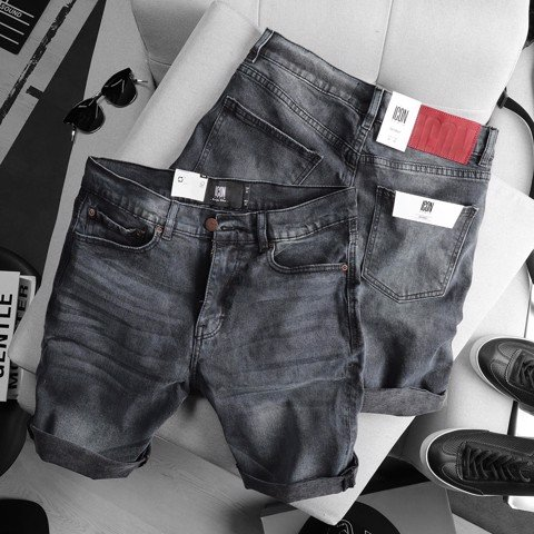 Quần short jean ICON DENIM Gray