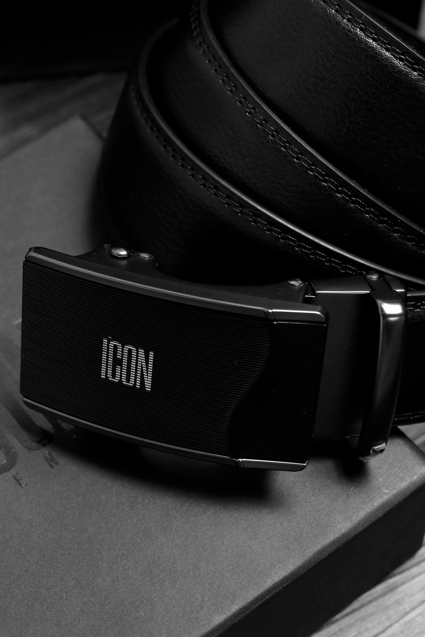Thắt lưng ICON DENIM Black Ashlar