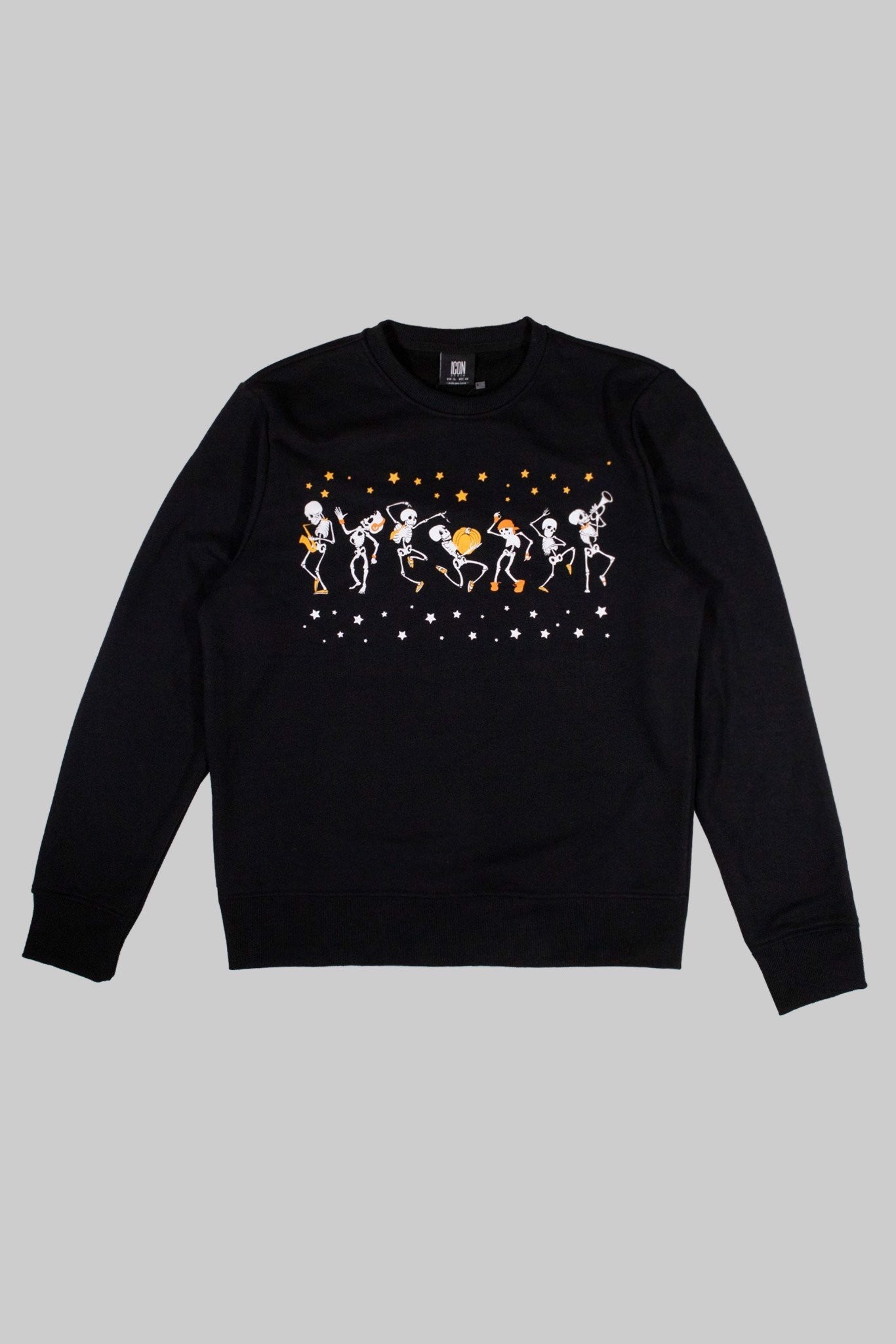 Sweatshirt ICON DENIM Black Skeleton