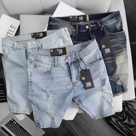 Quần Short Jean ICON DENIM Slim fit