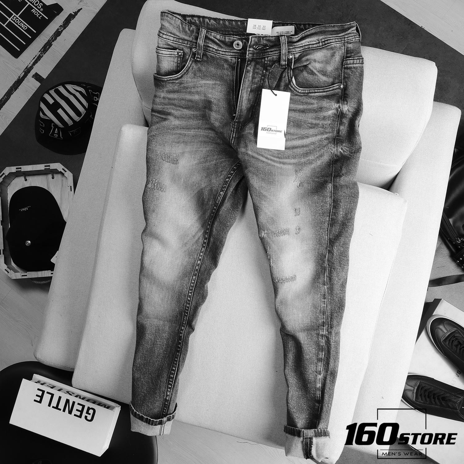 Quần jean ZRA ripped slim fit