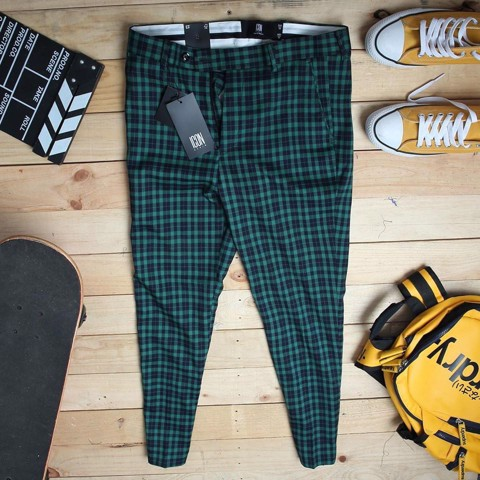 Quần tây ICON DENIM Plaid In Green
