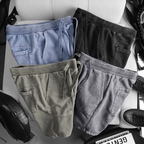 Quần short nỉ ICON DENIM wash