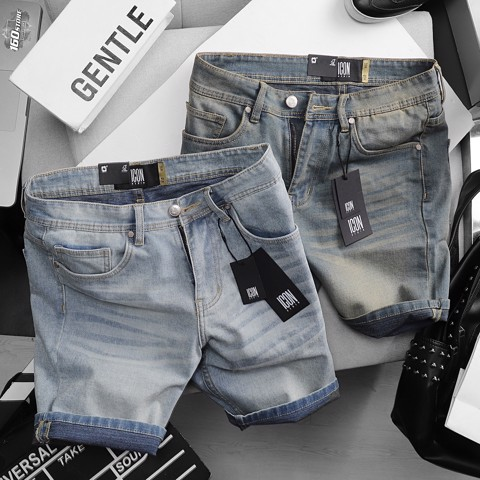 Quần short jean ICON DENIM slim