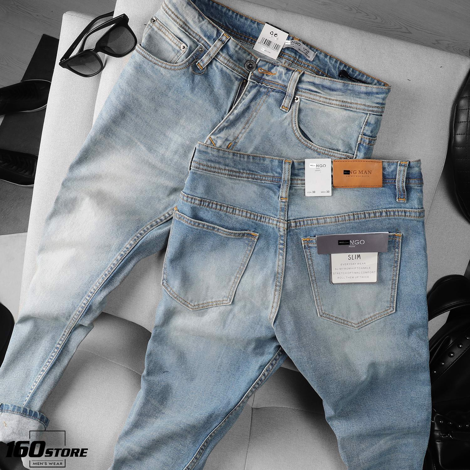 Quần jean M.N.G wash slim-fit