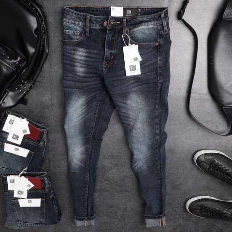 Quần jean ICON DENIM dark blue slim