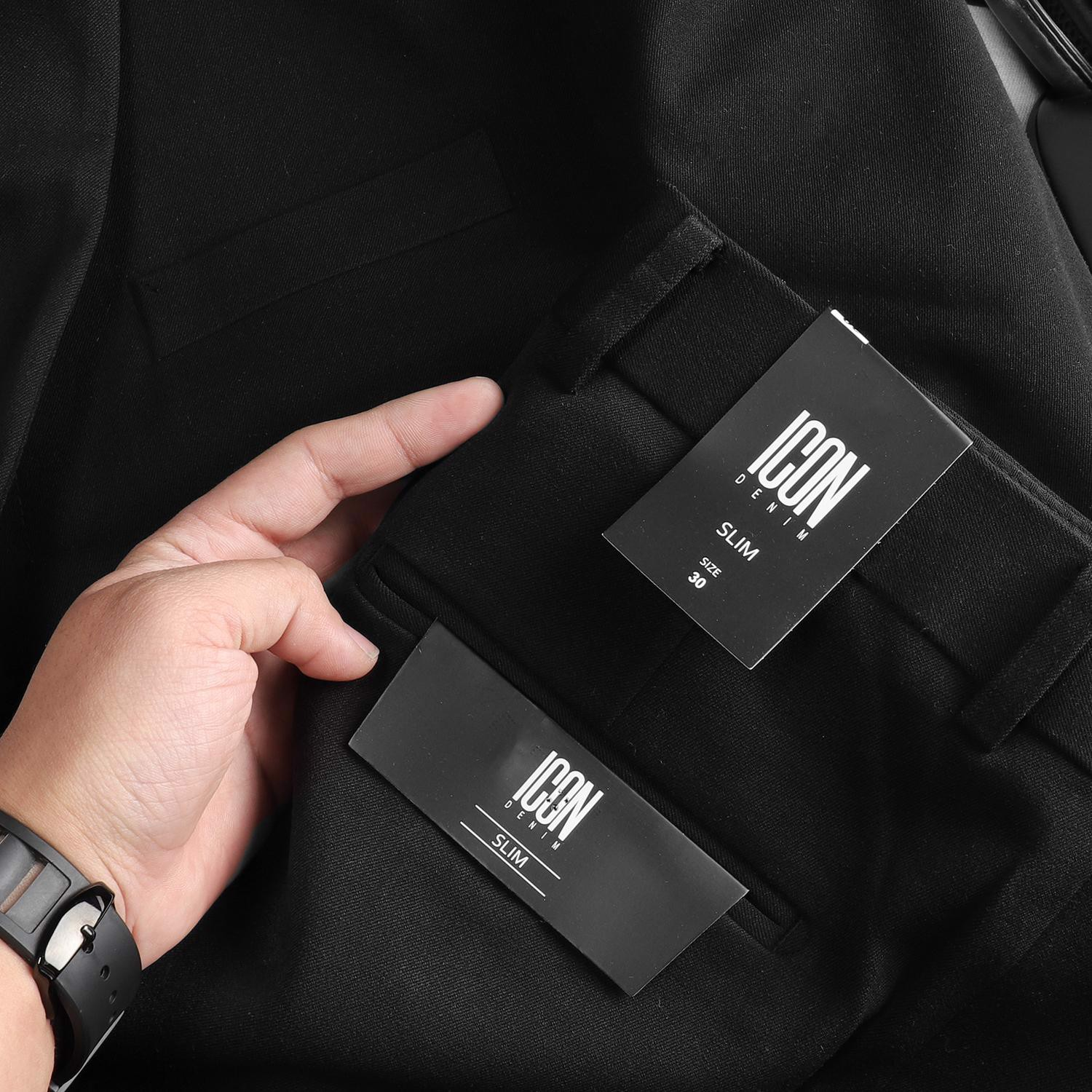 Quần tây ICON DENIM Black