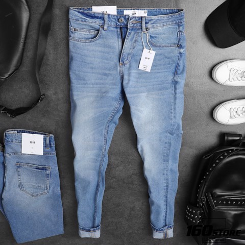 Quần jean T0PMAN blue slim fit