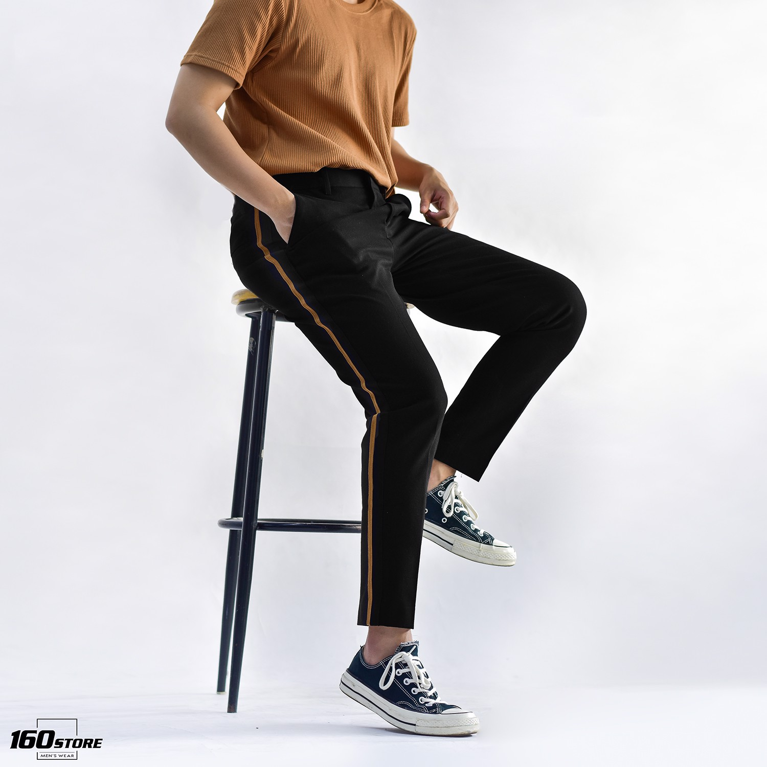 Quần tây ICON DENIM Skinny with side tape