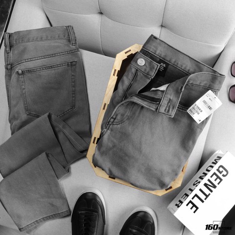 Quần jean H.M gray slim-fit