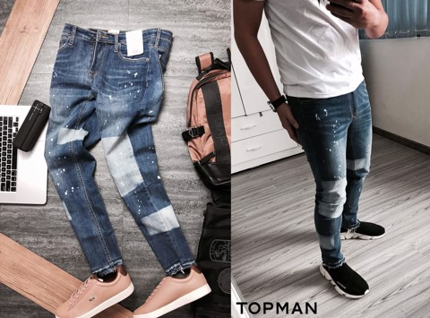 T0PMAN Stretch Slim Jeans