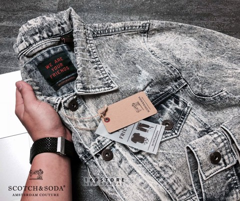 S&SODA Denim Embroidered Jacket