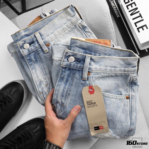 Quần short jean LVIS wash ripped