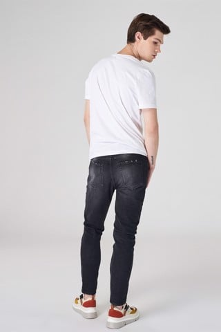 Quần jean ICON DENIM Skinny Grey Paint Splatter