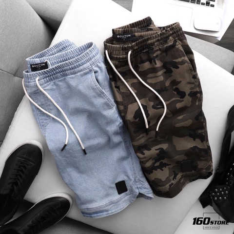 Quần short BOUTON denim