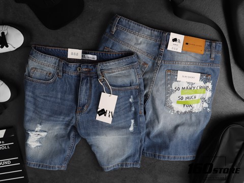 Quần short denim ZRA in túi
