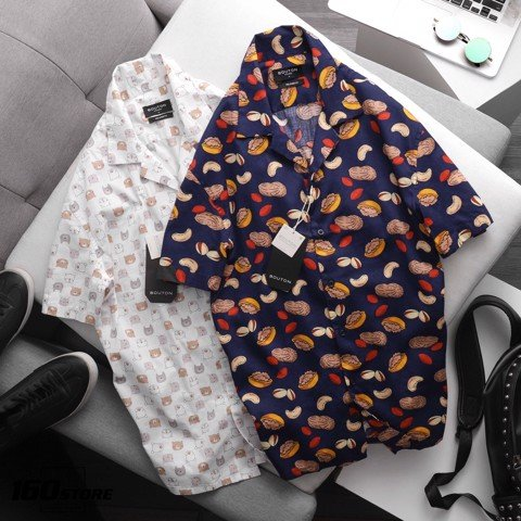 Áo sơmi BOUTON Relaxed fit Printed (TN)