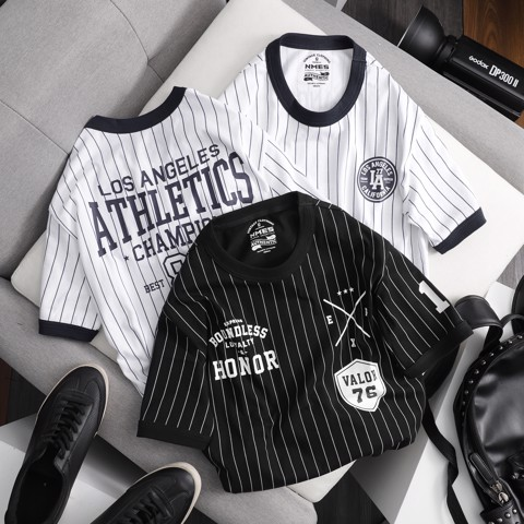 Áo Thun NOMOUS ESSENTIALS baseball striped