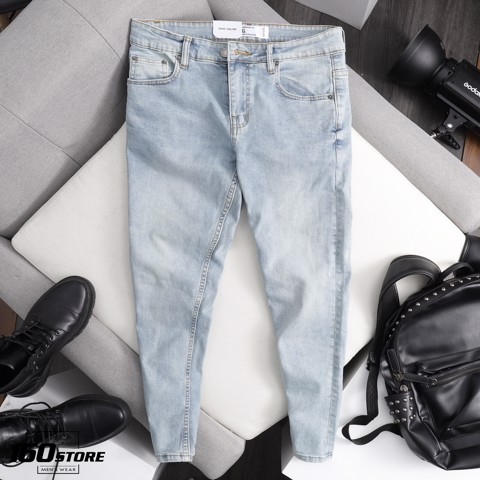 Quần jeans P.B light blue skinny