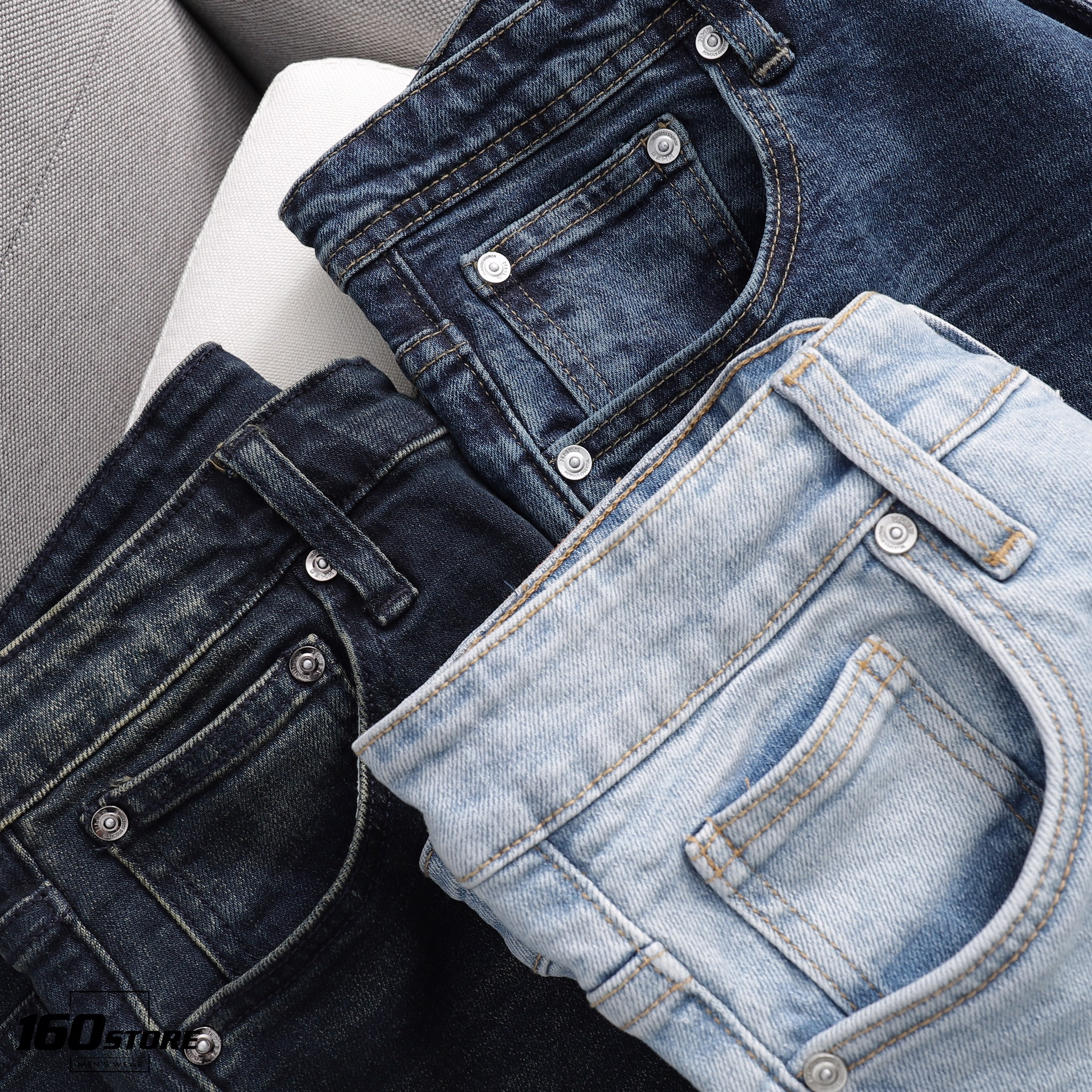 Quần jeans NOMOUS ESSENTIALS dark blue slim