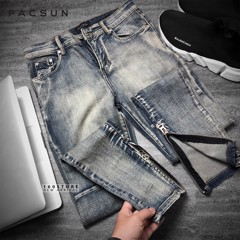PAC.SUN Dirty Skinny Jeans With Zip