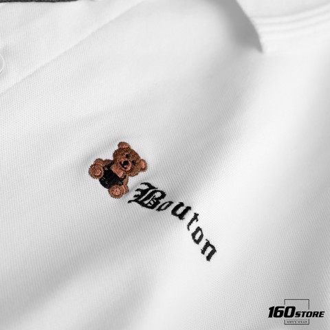 Áo polo BOUTON bear sticker