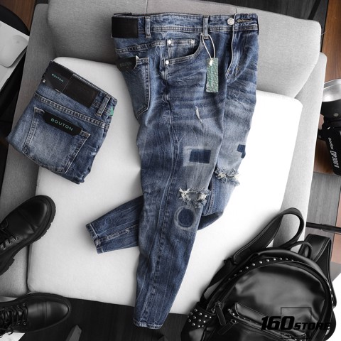 Quần jeans BOUTON Ripped wash skinny