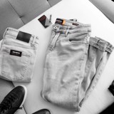 Quần jeans NOMOUS ESSENTIALS light grey super skinny
