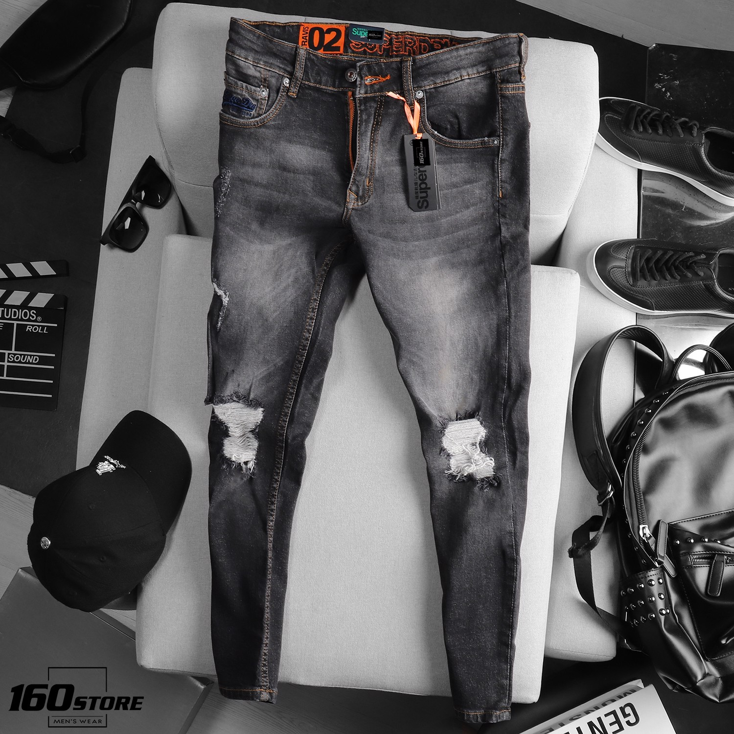 QUẦN JEAN S.DRY RIPPED