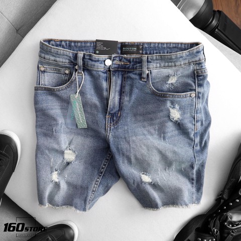 Quần short jeans BOUTON ripped