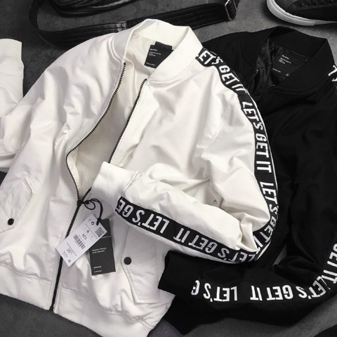 BSK Bomber Jacket with slogan