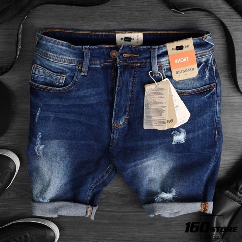 Quần short denim P.B wash
