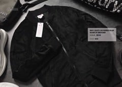 LCST Bomber Collar Velour Zip Jacket