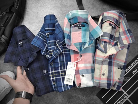 ULO Short Sleeve Checked Shirts