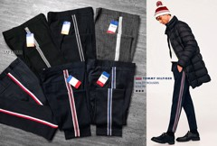 T0MMY Side-Striped Slim Trousers