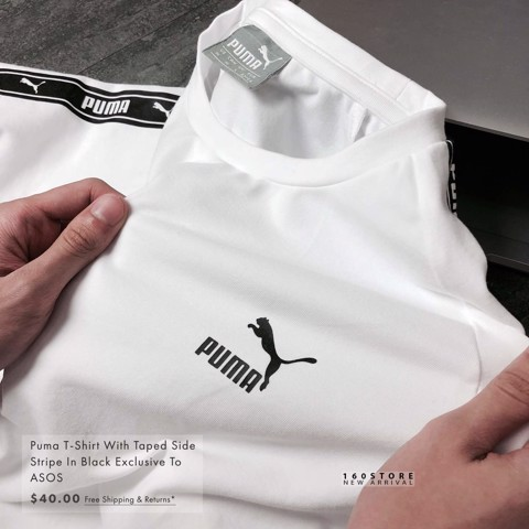 PMA T-shirts with Tape Side Stripe