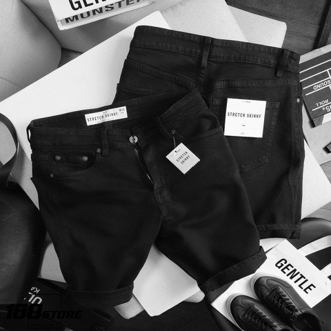 Quần short jeans T.MAN black