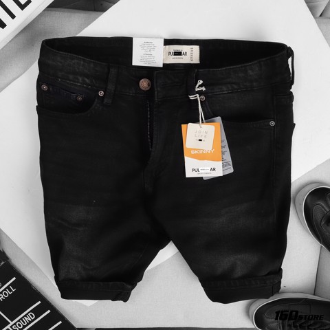 Quần short jeans P.B dark grey