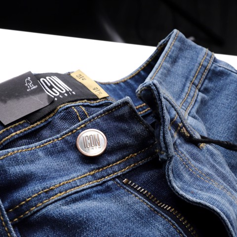 Quần short jeans ICON DENIM wash