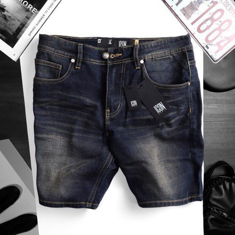 Quần short jeans ICON DENIM dark blue