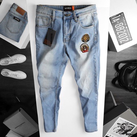Quần jeans NOMOUS ESSENTIALS skinny patch logo