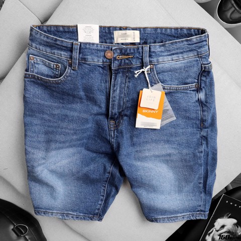 Quần short jeans P.B light blue