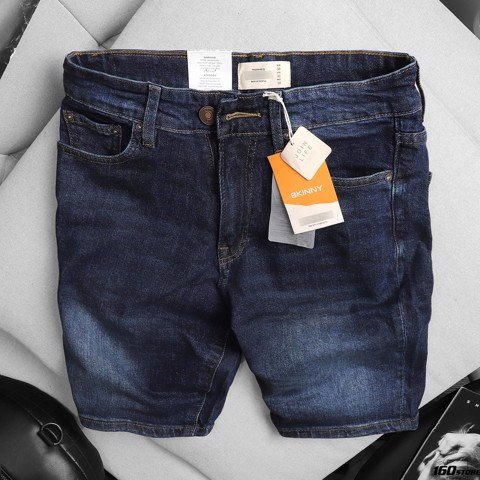 Quần short jeans P.B dark blue
