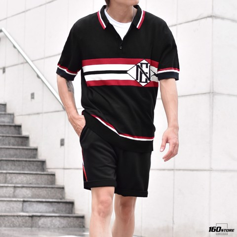 Áo polo len NOMOUS ESSENTIALS Striped Logo